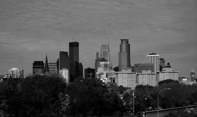 Minneapolis Black and White