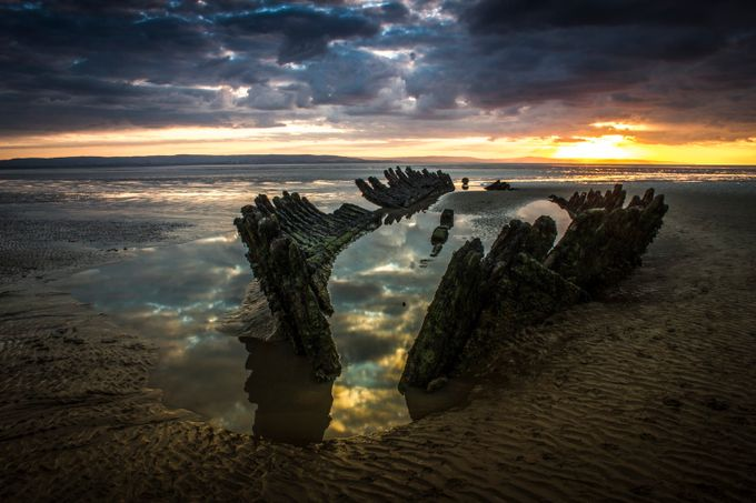 Sunset over SS Nornen by markpeters_0069 - Your Point Of View Photo Contest