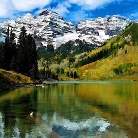 One of our loveliest sights in the US, especially in the fall - Maroon Bells in Colorado.