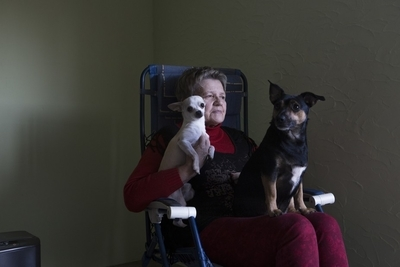 Grandmom with her dogs