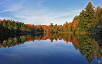 Reflections of Autumn at Hickory Run Lake