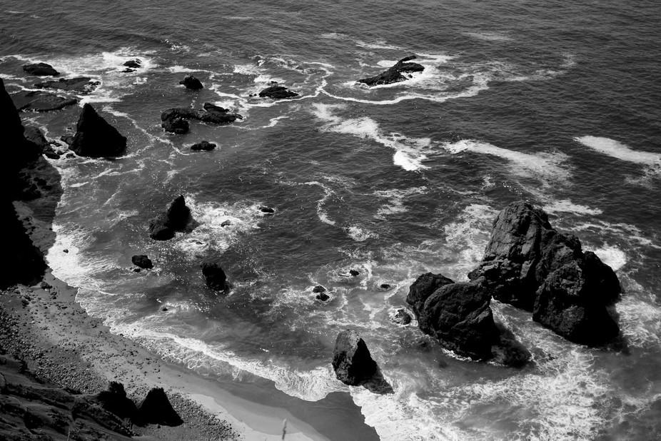 View from God's Thumb hike near Cascade Head, along Lincoln City, Oregon coast.