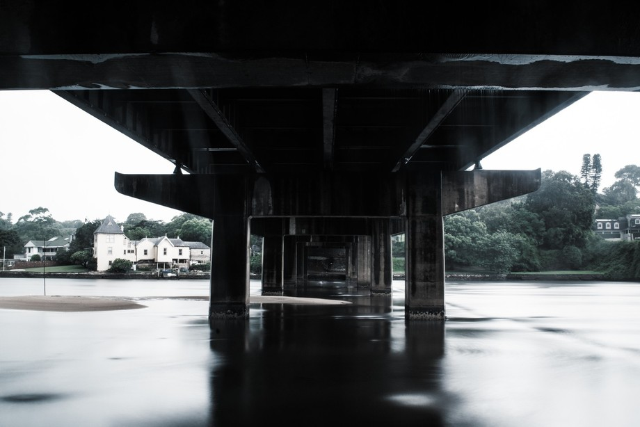 A shot taken on a rainy day under a local bridge.