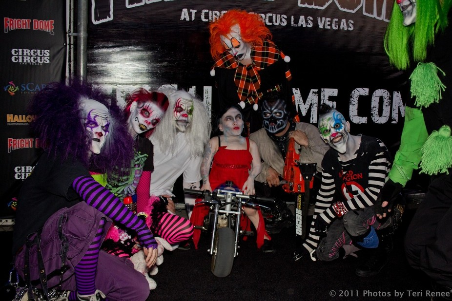 Circus Circus Fright Dome in Las Vegas is an annual event. I was a photographer for a company tha...