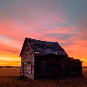 The photograph was made, early on a cold November morning, of the only remaining Eastonville structure. Eastonville is incorporated into Colorado...