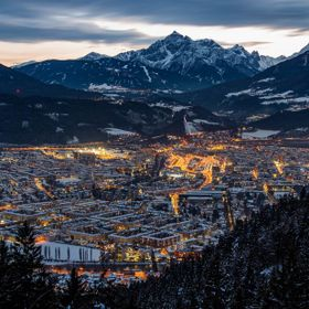 Here you can see my beautiful little hometown Innsbruck. I went hiking to the Arzler Alm near by and had this view in the evenig hours.