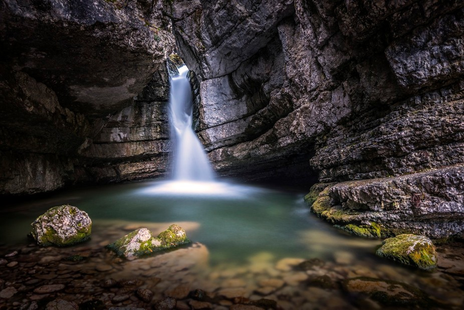 Another beautiful pool in the Fanes Group of the Italian Dolomites.