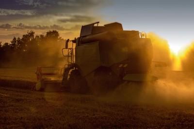 Large combine harvester