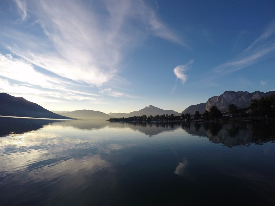 Took this Picture one my early SUP Tour on the Lake called Mondsee in Austria.
