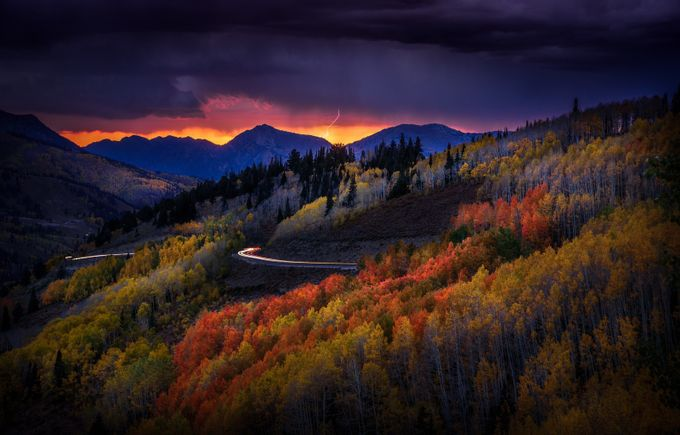 Stormy Autumn Twilight by DerekKind - Country Roads Photo Contest