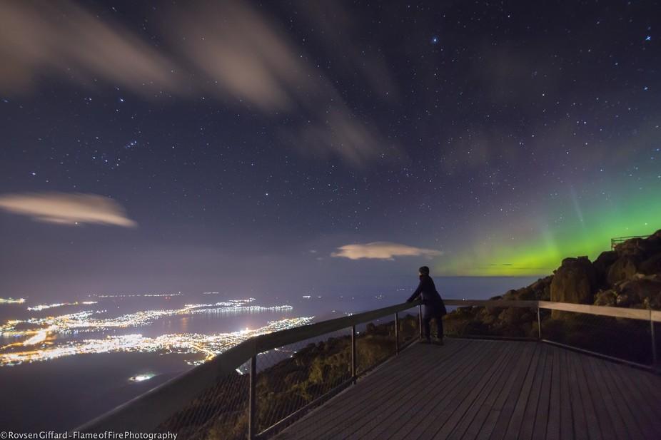 Aurora versus city lights
