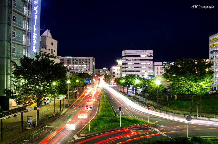 during a small business trip to Japan I was able to take this picture from a bridge outside the h...