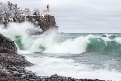 Raging Waters at Split Rock Lighthouse
