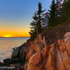An alternate view of the classic Bass Harbor Headlight in Maine.  This is what happens when the optimum spot is full!