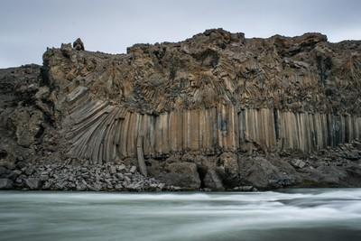 Icelandic basalt columns
