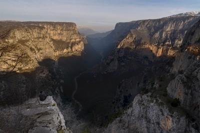 All Alone at Vikos Canyon
