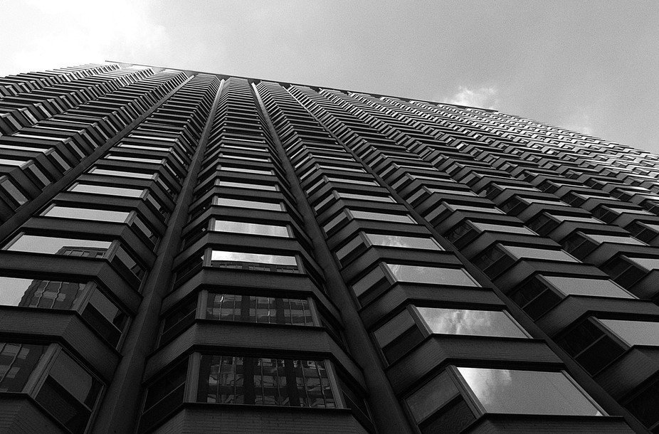 This is a building in Chicago that I stood at the bottom and looked up at. It sure was a long way...