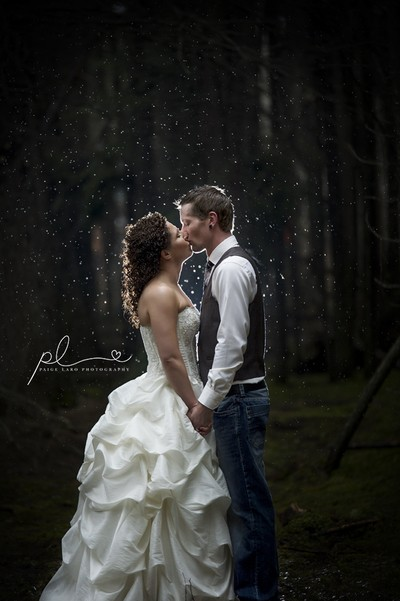 Married in the rain