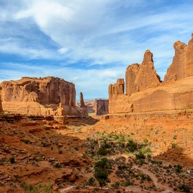 A beautiful canyon hike in Arches National Park.
