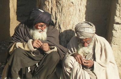 Afghan tribal elders near Kandahar Afghanistan