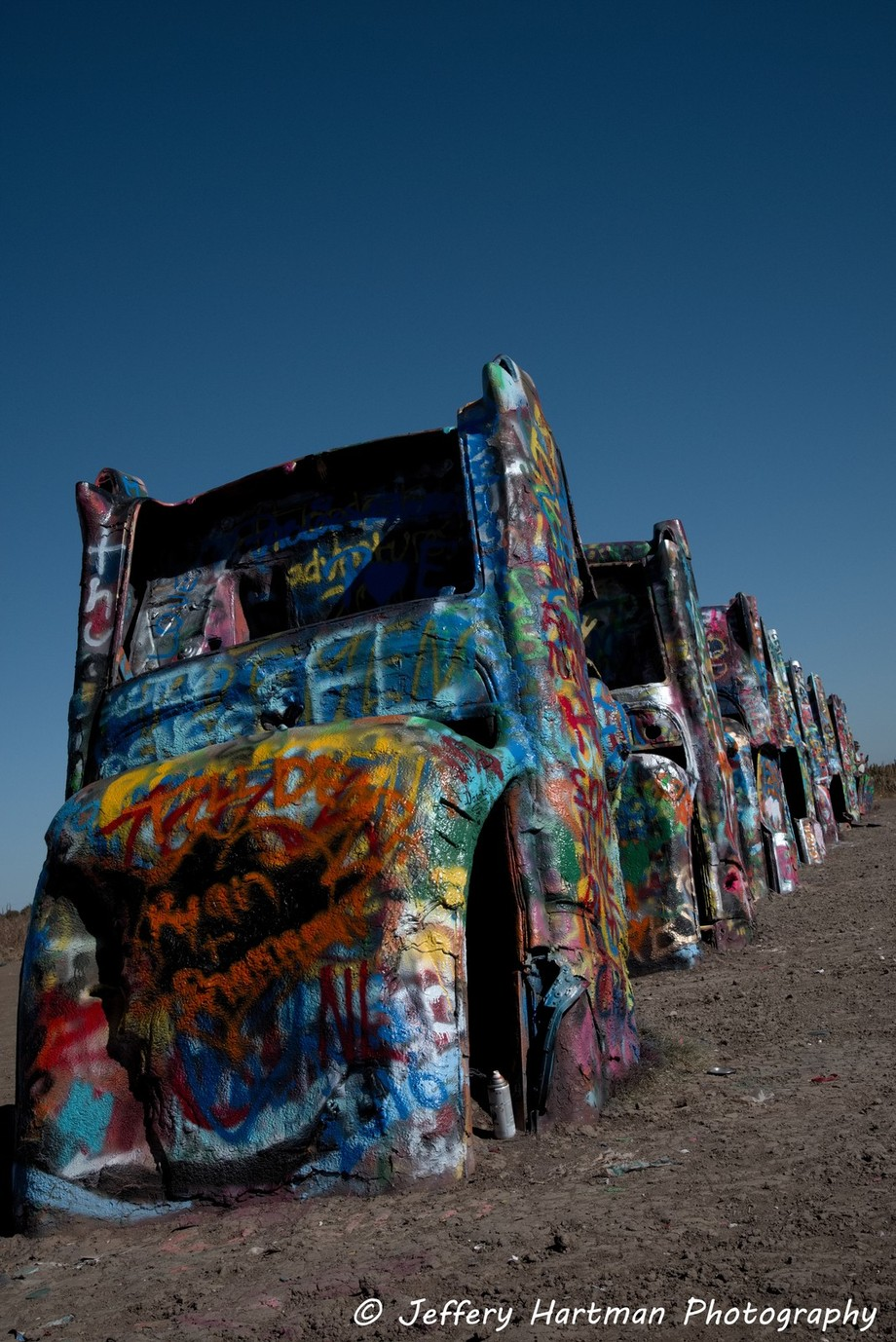 Stopped at the Cadillac Ranch in Texas!