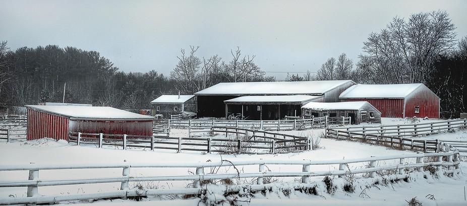 Newburyport farm in the Winter.