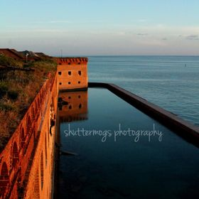 Sunset in the Dry Tortugas, turning the stones from brick to gold