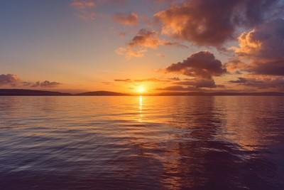 Sunrise over Mumbles Bay