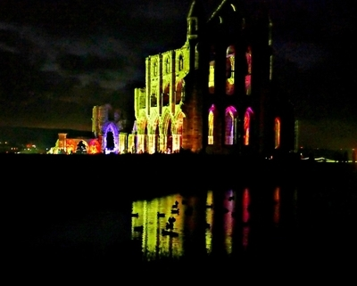 Whitby Abbey illuminated 2016