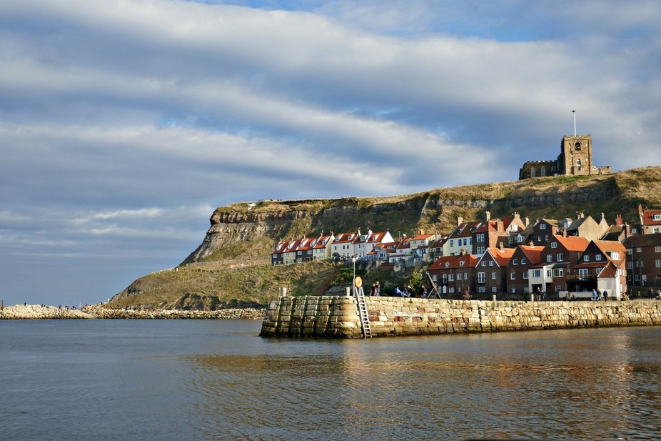 Whitby from aboard the Bark Endeavor Captain Cook replica ship