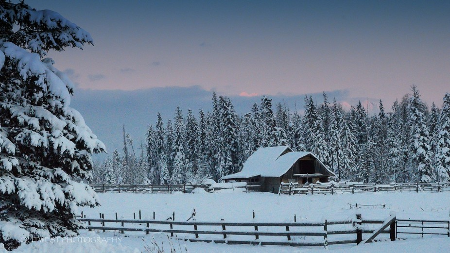 Winter Barn-