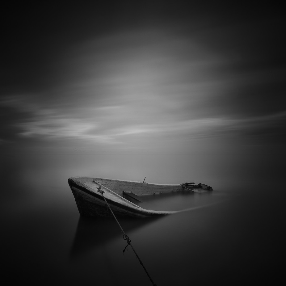 Clinging wreck by jmecs - A World In Black And White Photo Contest