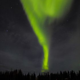 A green tornado of Aurora.