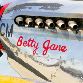 """Betty Jane"" North American P-51C ""Mustang"" ""Betty Jane"" from the Collings Foundation sits on the ramp waiting for ..."