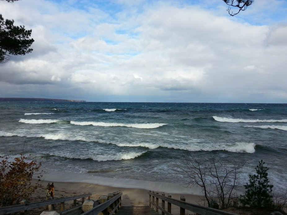 The Waves Greet Me at Miner's Beach