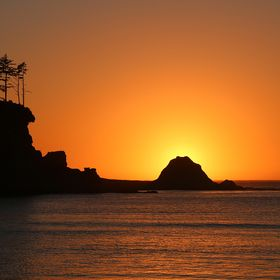 Each sunset is different.  This one taken at Sunset Bay, Oregon demonstrates the namesake for the bay.  For the photo, I timed the setting sun to...