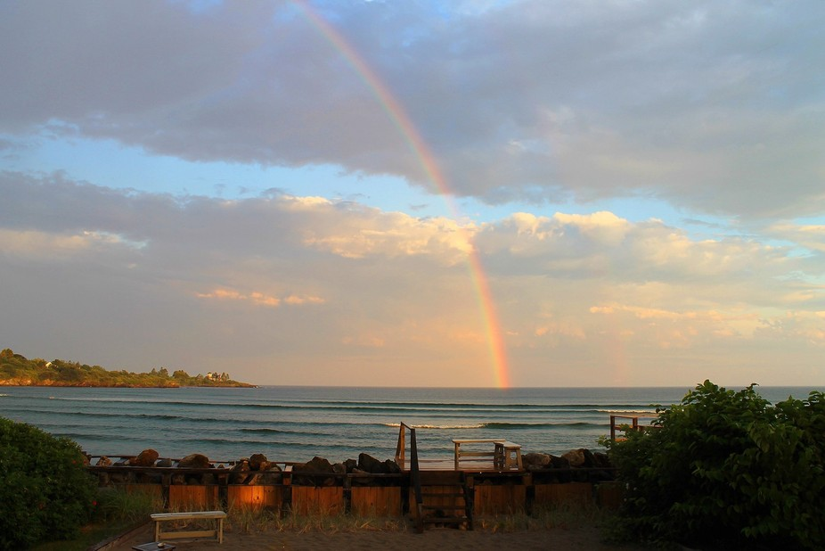 Usually whenever I go to Higgins Beach in Scarburogh, ME, there is always a thunderstorm. Luckily...