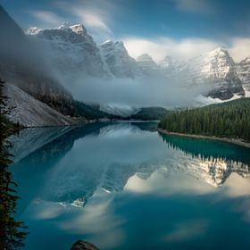 Moraine Lake in Banff National Park, Alberta Canada. This was my third visit to this location this year - I wanted conditions like this for a whi...