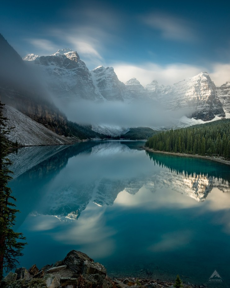 Moraine Lake Mist  by Sentinelphotography - Long Exposure In Nature Photo Contest