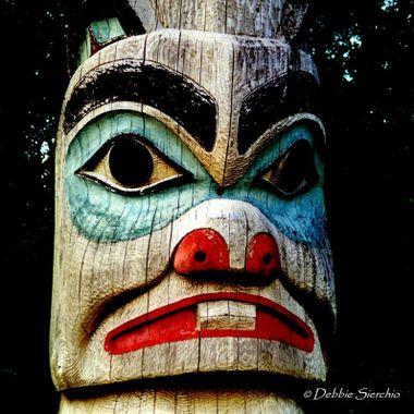 Totem in Southeast Alaska visited by way of Alaska Marine Highway.