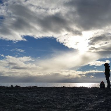 One of many nice sunsets we could observe at Bishops Beach in Homer, Alaska.