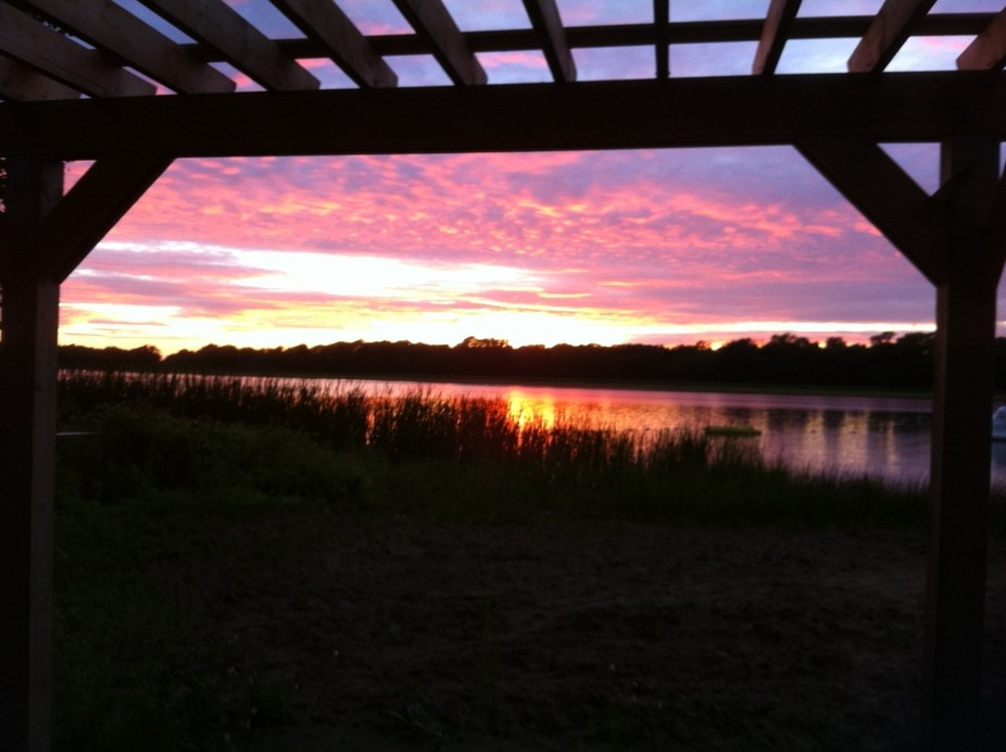 Sunset on West Lake; taken from Wesley Acres Conference Centre and Campground, August 2015