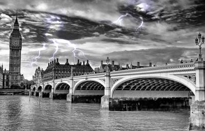 Storm over Westminster Bridge