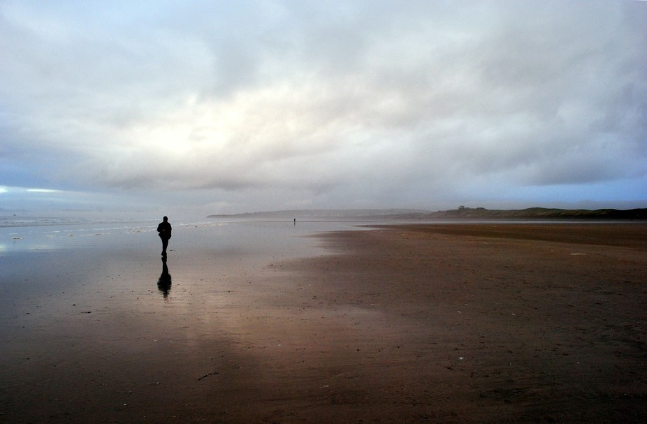 I took this picture on the Rossnowlagh Beach in Co. Donegal, Ireland several years ago. The cloud...