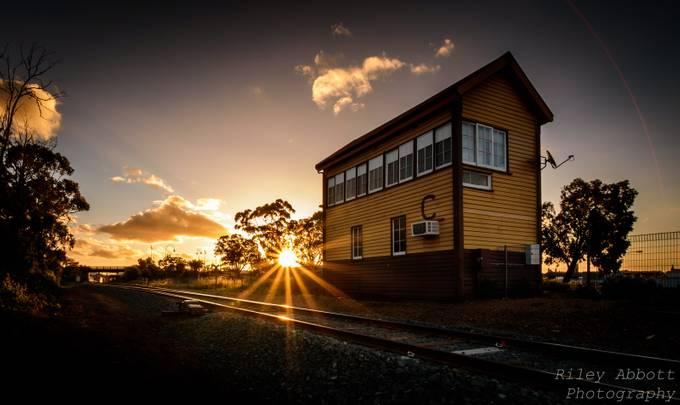 Bendigo Signal box by RileyAbbottPhotography - Empty Railways Photo Contest