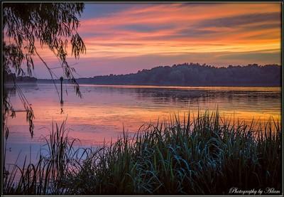 Sunset on the Atchafalaya_Dog Island Pass_framed2