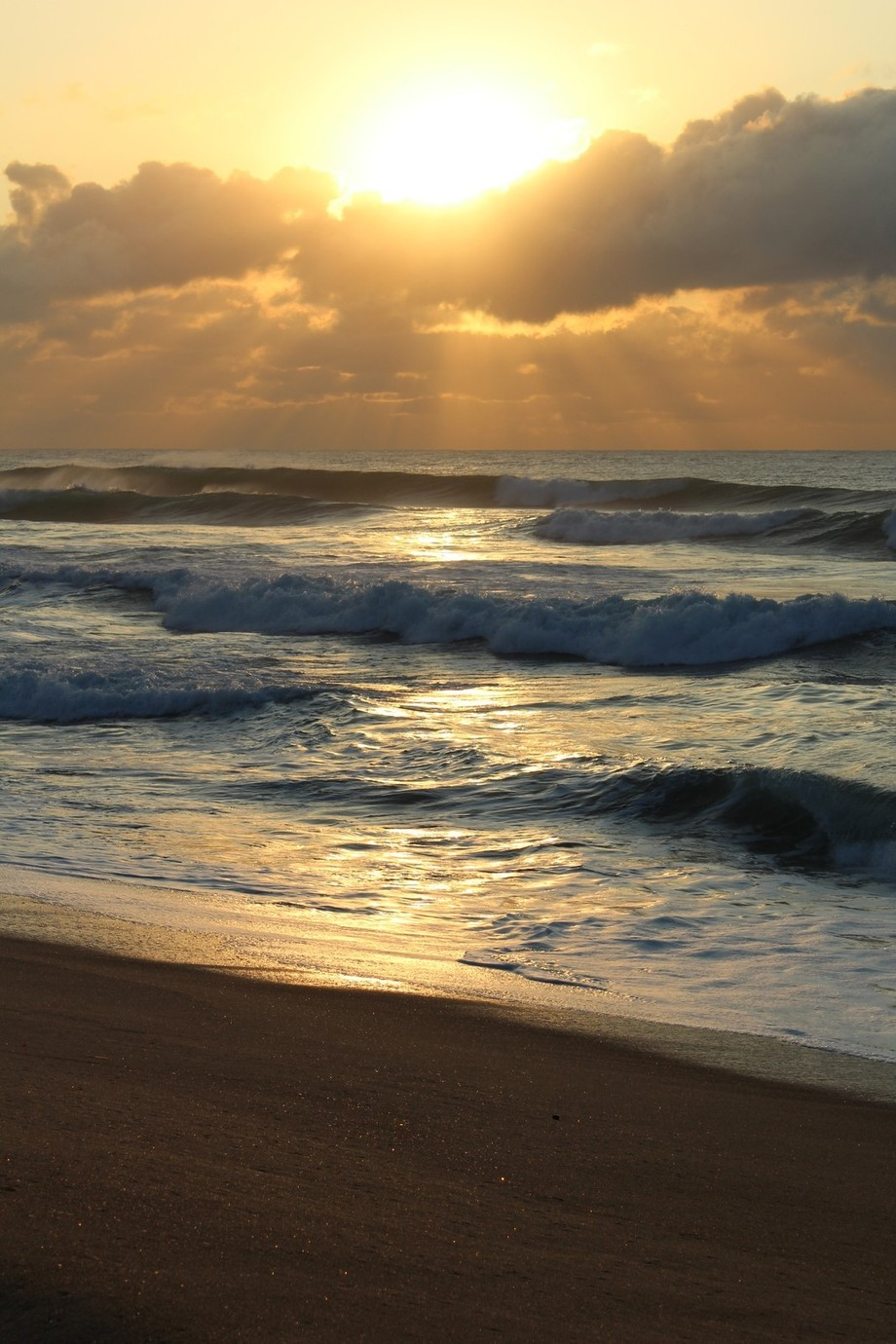 Early morning at Amanzimtoti Beach, South Africa shooting the sunrise.