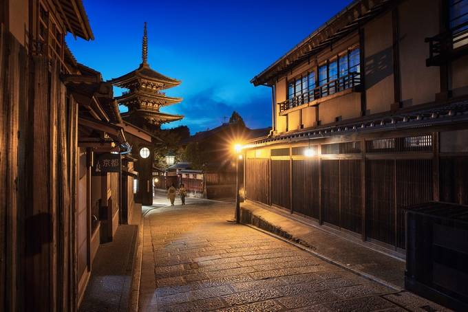 Kyoto History Path by sventaubert - The Blue Hour Photo Contest