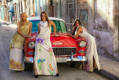 HAVANA, CUBA - Cuban Model shoot around Havana