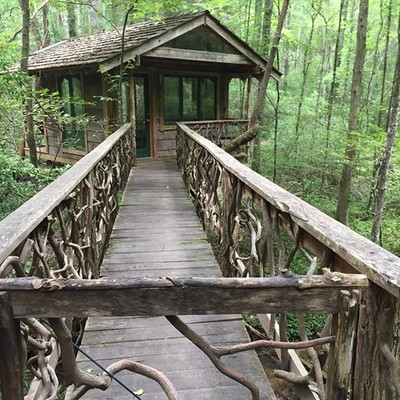 The treehouse where I was- looks like it belongs in the lord of the rings! #